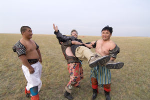 In Mongolia Interna nel settembre 2007, al Green Raid Rally organizzato da Hubert Auriol, per Tuttoturismo. Foto di Aldo Pavan